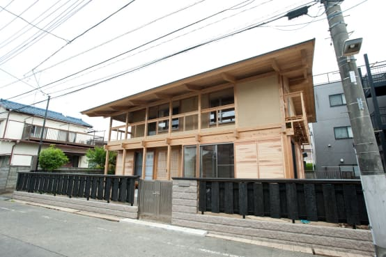 Japanese traditional wooden house