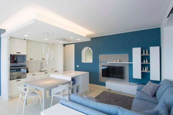 6 soluzioni moderne per dividere cucina e soggiorno - Parete carta da zucchero ...