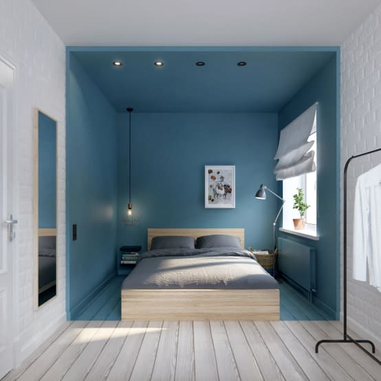 Partition your bedroom in these 9 clever ways - Papier peint chambre adulte tendance ...