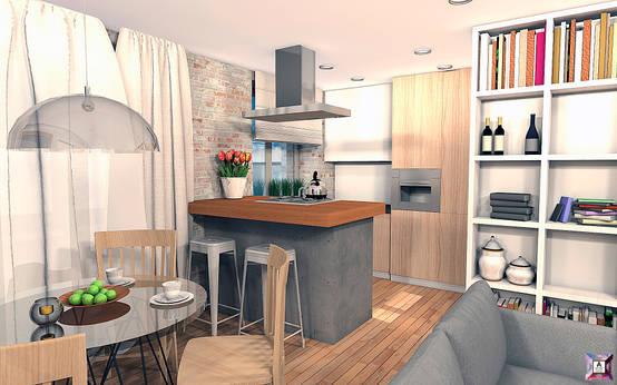 10 Cocinas chiquitas para casas pequeñas