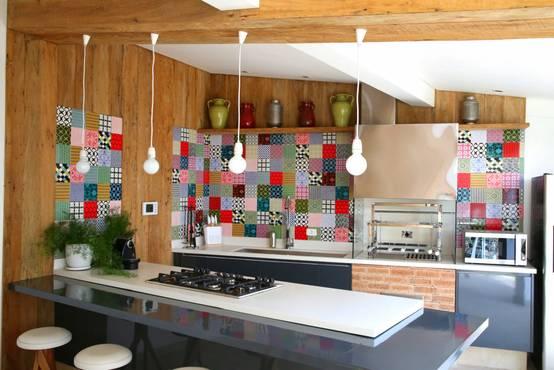 Decoração moderna com azulejos