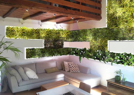La parete eco sostenibile il giardino verticale for Parete da arredare