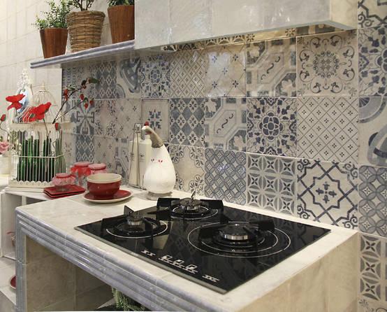 12 ideas para revestir tu cocina con baldosa r stica for Loseta para cocina