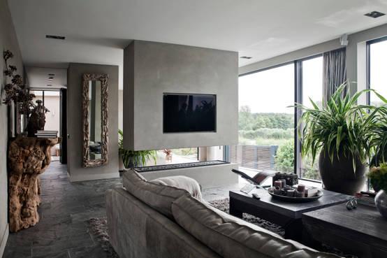 Luxus wohnzimmer modern mit kamin  Luxus-Wohnzimmer: Inspiration für Genießer