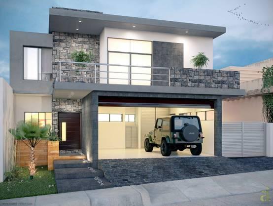 Fachadas de casas que te encantar n for Fachadas de casas modernas a desnivel