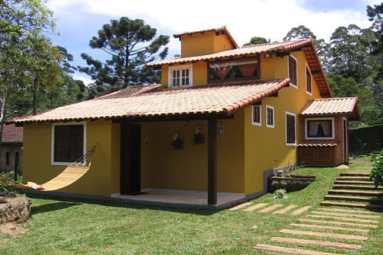 22 casas familiares simples e lindas para te inspirar a for Homify casas de campo