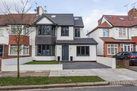 Reihenhaus mit partypotenzial House transformations exterior