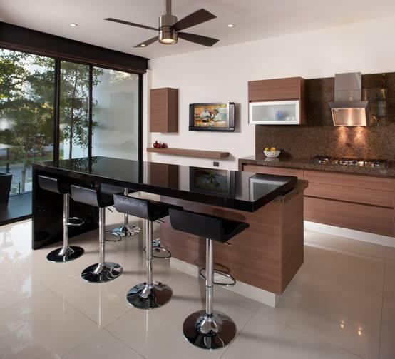 20 cocinas de madera con isla que te van a fascinar for Cocinas integrales de madera con isla