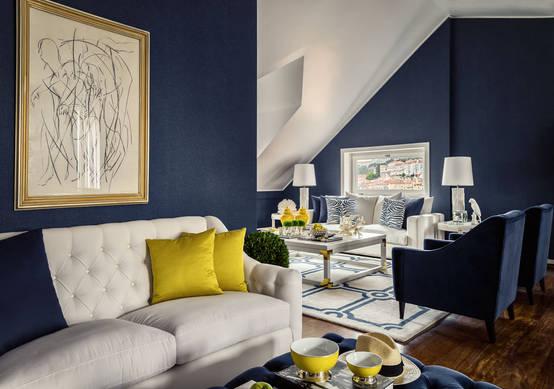 10 couleurs tonnantes pour peindre avec go t un petit salon - Petits salons decores gout ...