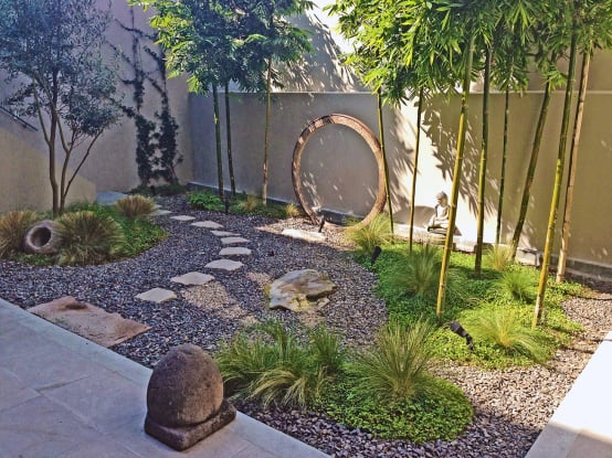 20 tiny gardens that can be done in any home for Piedras jardin baratas