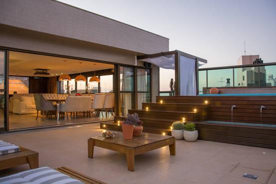 inspiratie de mooiste verlichting voor een houten terras