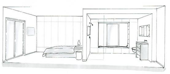 Zimmer Zeichnen Mit Fluchtpunkt Die schönsten Einrichtungsideen~ Kochinsel Glas
