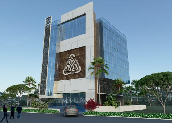 Front Elevation Of Office Building : Homify
