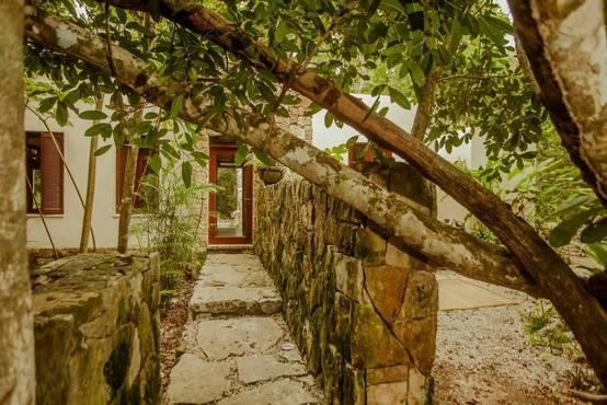 Hermosa casa dentro de una selva trópical