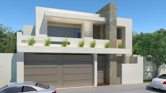 25 fachadas de casas modernas para ver antes de construir for Casa con piscina para alquilar por dia