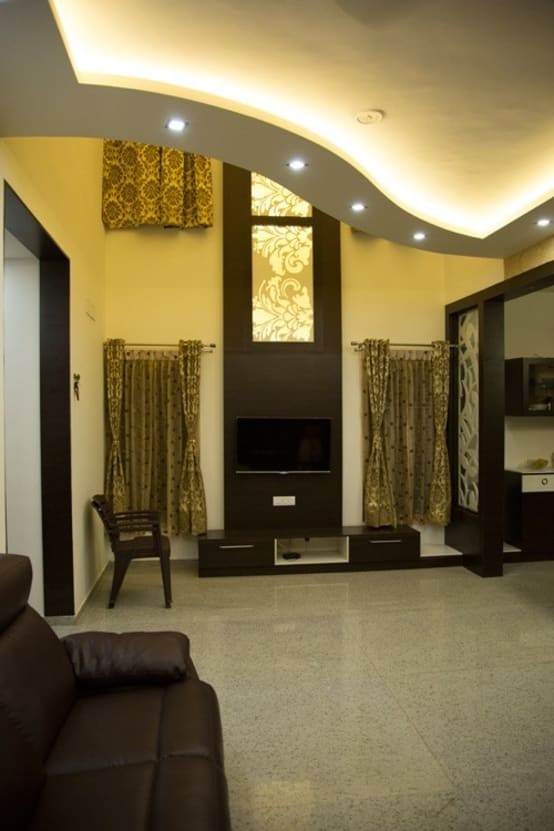 An edgy indian house for Edgy living room ideas