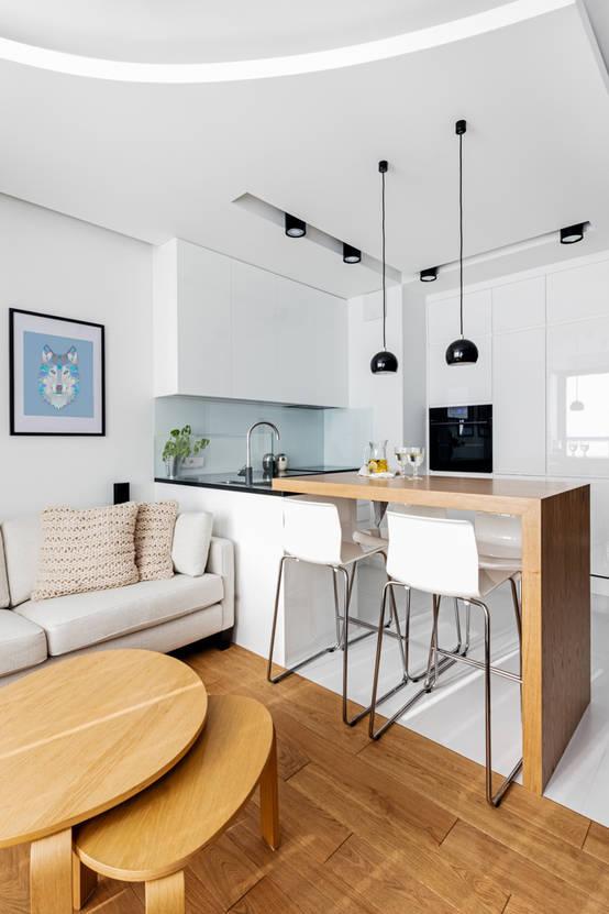 6 piccole cucine in bianco e legno