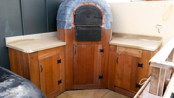 Roof terrace oven
