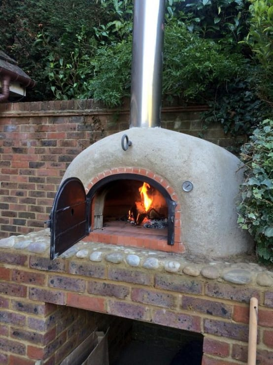 rustic wood-fired oven