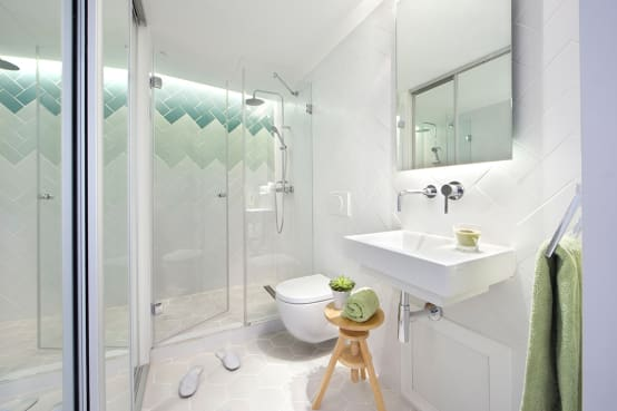 Ideas para ba os muy peque os for Ideas para cuartos de bano pequenos