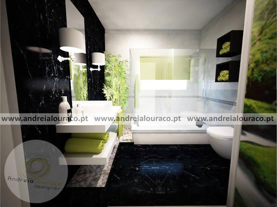 Projecto de Decoração de Wc by Andreia Louraço Design e Interiores