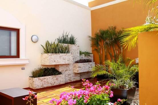 con estas jardineras tu patio se ver bonito y moderno