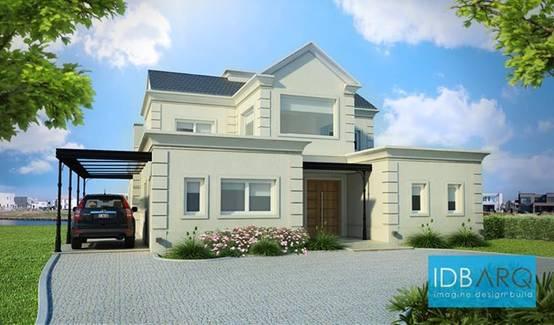 Una casa en nordelta for Casas estilo frances clasico