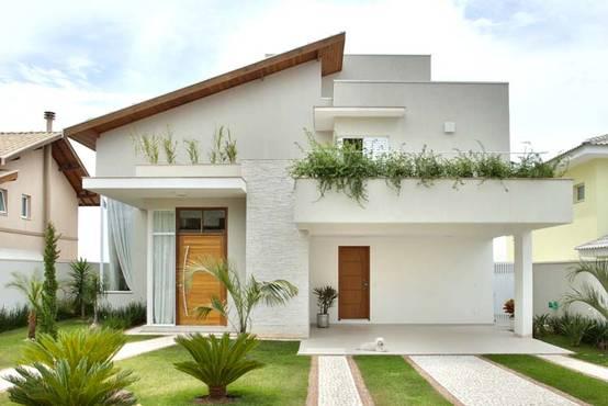 22 casas familiares simples e lindas para te inspirar a for Fotos de casas modernas simples
