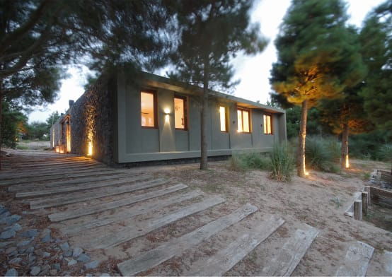 A Cool Cube Home In The Woods   homify
