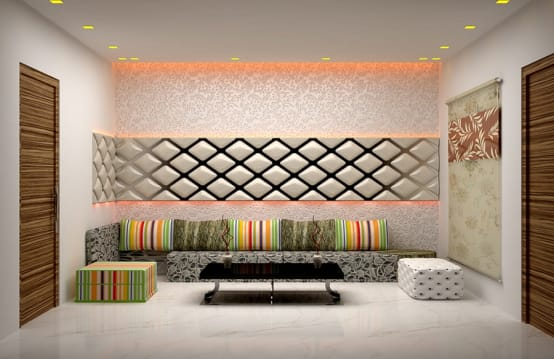 8 different living room concepts for indian homes for Tea room interior design ideas