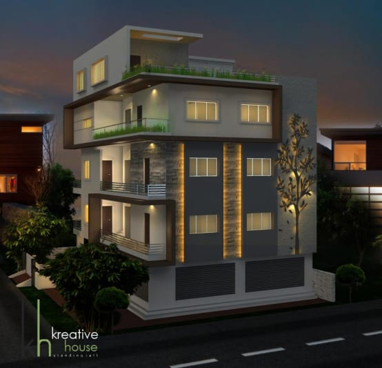 3d Elevation Designers In Bangalore: 3D House Elevation Designs From Architects In Hyderabad