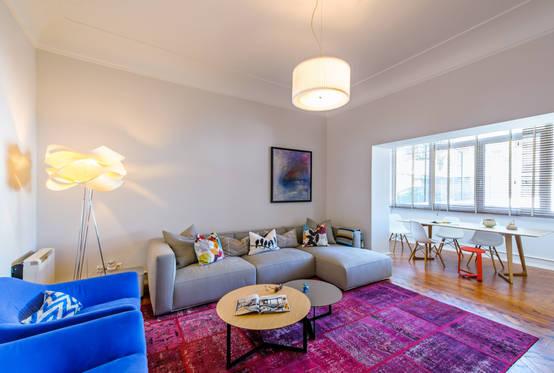 G z al c ve modern bir daireden ilham veren foto raflar for Casa meubles de jardin