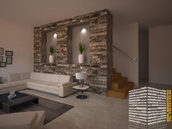 16 Ide Cantik Menghias Dinding Ruang Tamu Dengan Batu