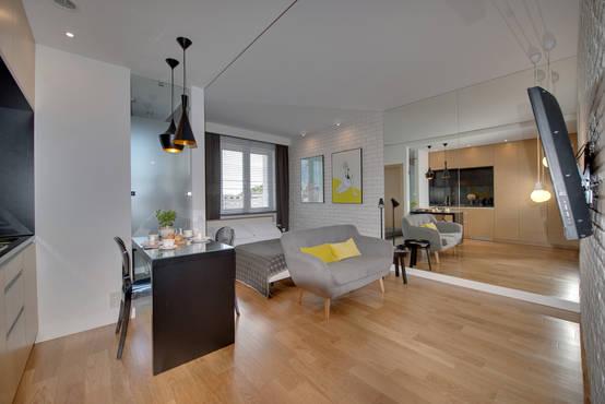 Abitare con stile in soli 25 mq - Cucina soggiorno 15 mq ...