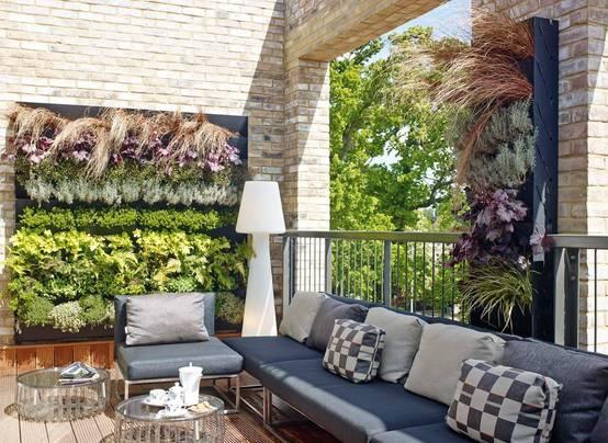 18 idee n voor een uniek balkon of terras - Foto sluit een overdekt terras ...