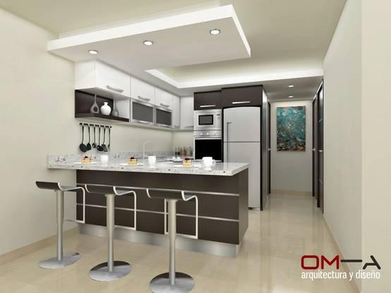 9 dise os de techos modernos para tu cocina for Techos de drywall para cocinas