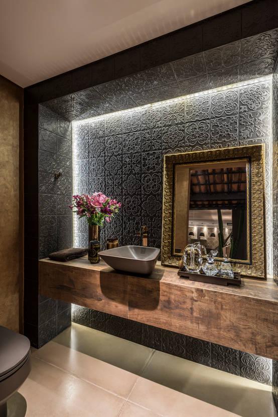 9 ideias de revestimentos modernos para banheiros e lavabos - Fotos lavabos modernos ...