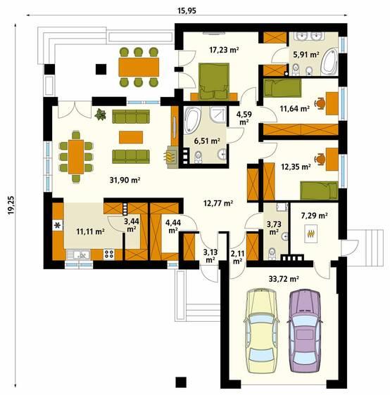 7 casas de un piso con planos para que te animes a for Libros de planos arquitectonicos