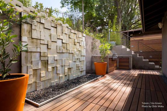 20 fuentes y muros llorones para tu jard n sensacionales - Decoracion muros exteriores ...