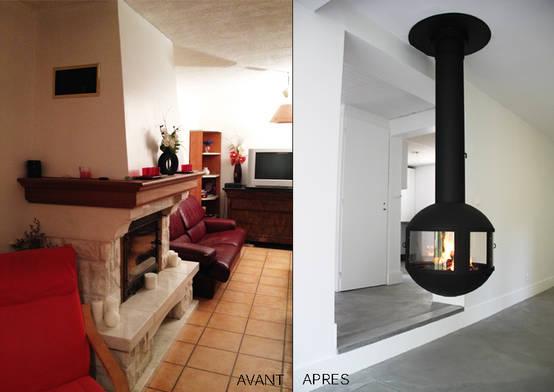 comment moderniser une chemin e l 39 exemple avec cette r novation lyon. Black Bedroom Furniture Sets. Home Design Ideas