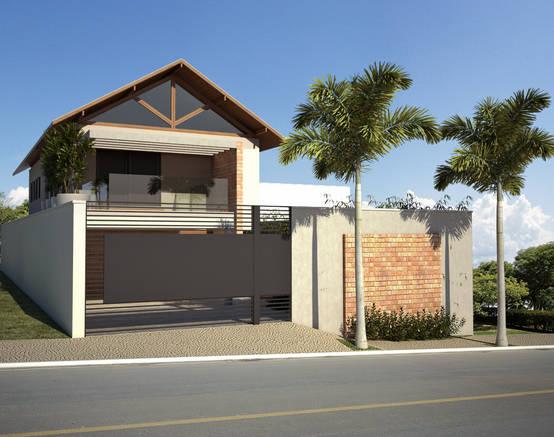 Casa charmosa tem rea de lazer apaixonante for Modelos de casa para segundo piso