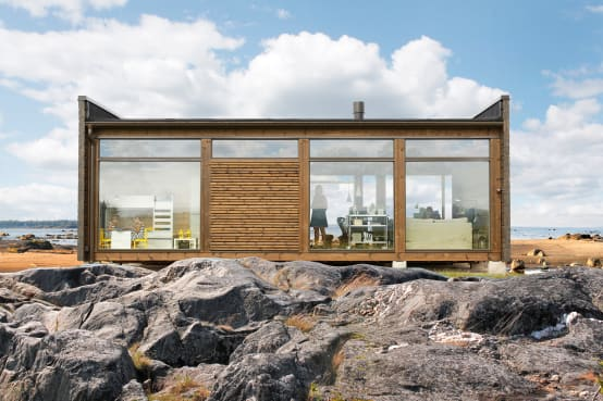 Choose between these two fabulous wooden homes