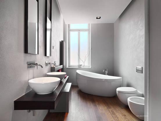 bagni moderni senza piastrelle. simple new classic bathroom design ... - Bagni Moderni Senza Piastrelle