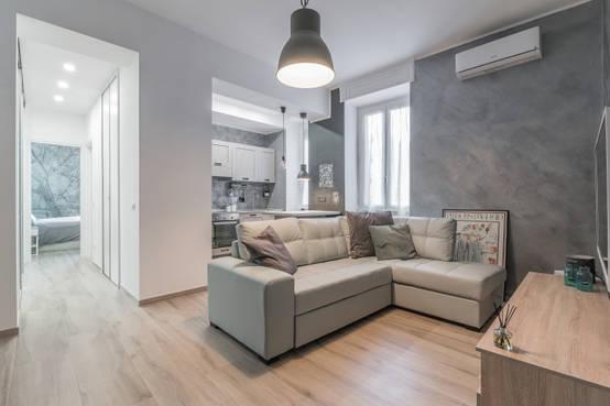 8 apartamentos que han usado fabulosamente el blanco y gris for Casa moderna open