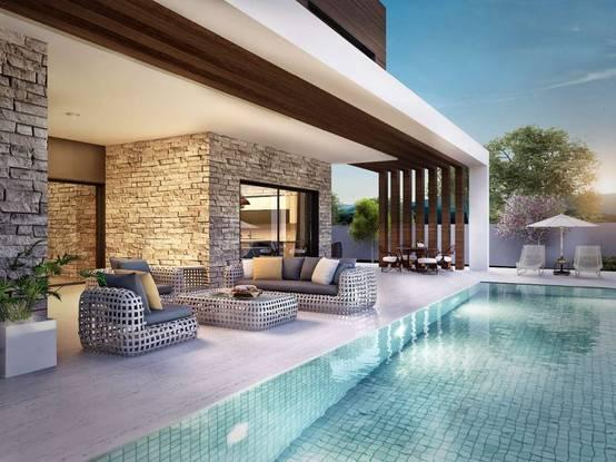 Hayalleri gerçek kılan havuzlu ve teraslı modern evler | homify | homify