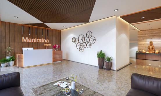 Interior Design Rendering For Commercial Office Workstation