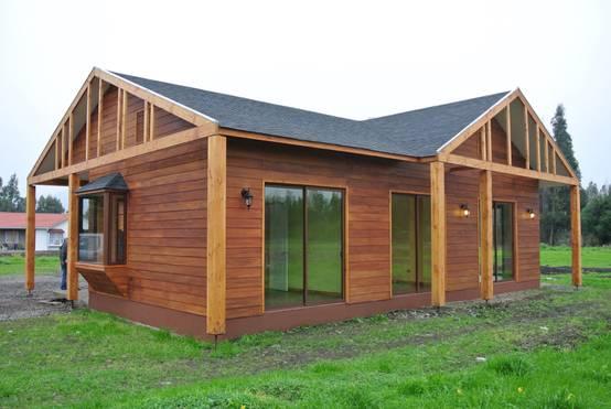 Una casa de madera de 140m2 hermosa y barata for Foro casas de madera