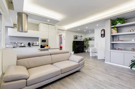 Ristrutturazione appartamento minimal a roma for Interni casa design