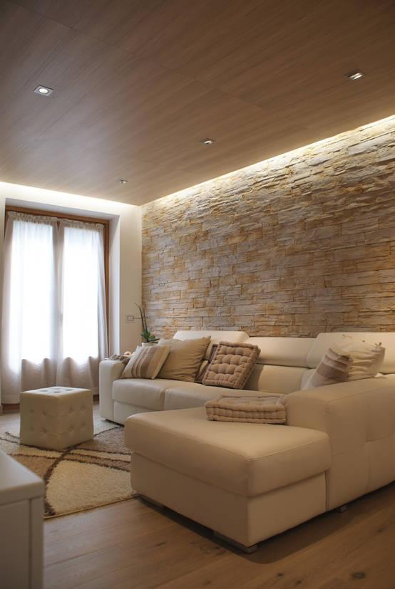 40 ideias para ter uma sala de estar moderna de conto de fadas for Casa in pietra moderna