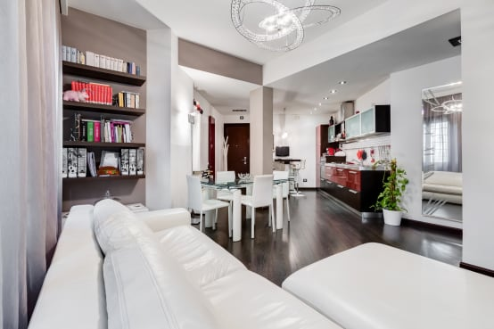 7 open space che uniscono soggiorno cucina e sala da pranzo - Decorazione pareti soggiorno ...
